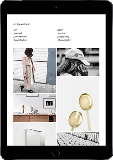 Screenshot of Simply Aesthetic running on our Elinor Premium Tumblr theme